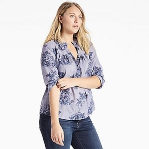 + Lucky Brand Chambray Top
